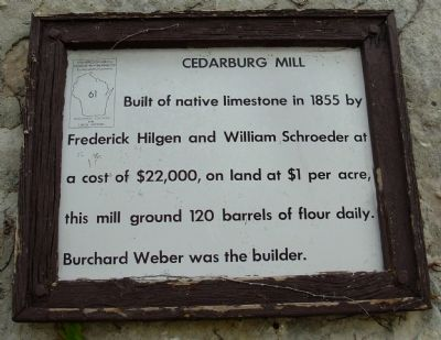 Cedarburg Mill Marker image. Click for full size.