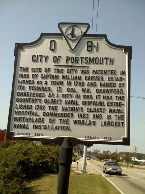 City of Portsmouth Marker image. Click for full size.
