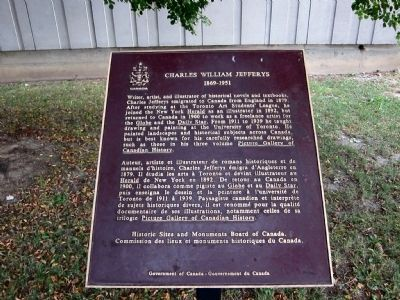 Charles William Jefferys Marker image. Click for full size.