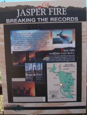 Jasper Fire Marker - Breaking the Records Panel image. Click for full size.