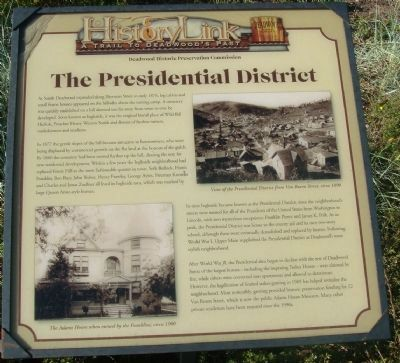 The Presidential District Marker image. Click for full size.