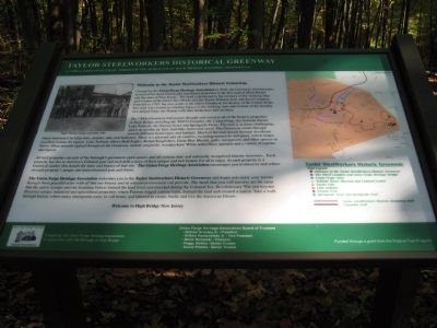 Taylor Steelworkers Historic Greenway Marker image. Click for full size.