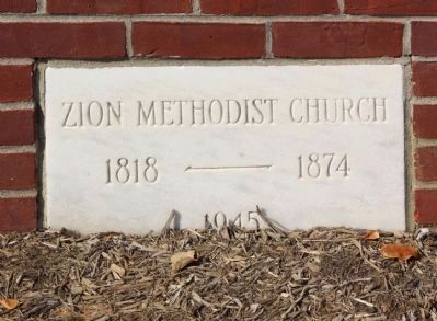 Zion United Methodist Church Cornerstone image. Click for full size.