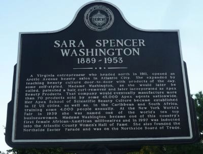Sara Spencer Washington Marker image. Click for full size.