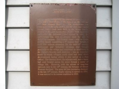 Mount Pleasant General Store Marker image. Click for full size.
