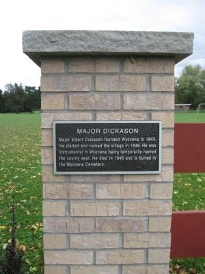 Major Dickason Marker image. Click for full size.