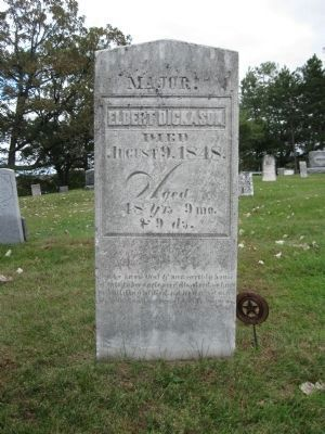 Gravestone of Major Dickason image. Click for full size.