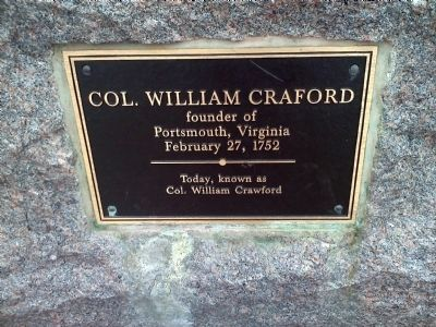 Col. William Craford Marker image. Click for full size.