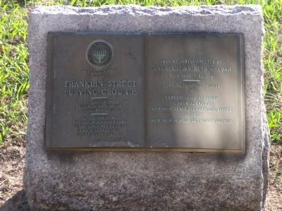 Franklin Street Burying Grounds Marker image. Click for full size.