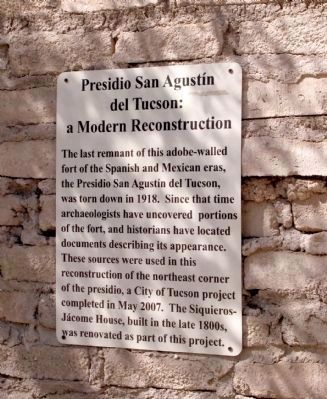 Presidio del Tucson: A Modern Reconstruction image. Click for full size.