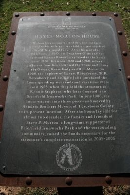 Hayes-Morton House Marker image. Click for full size.