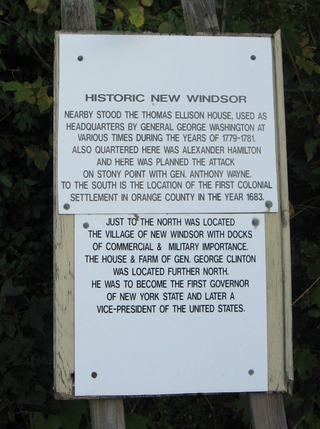 Historic New Windsor Marker