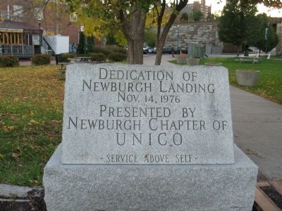 Dedication of Newburgh Landing Marker image. Click for full size.