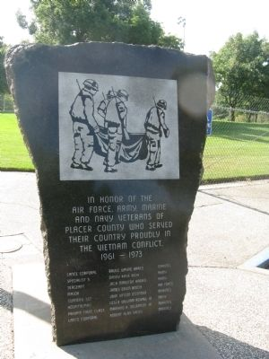 Roseville - Placer County Vietnam Memorial Marker image. Click for full size.