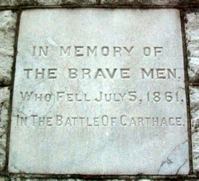 Battle of Carthage Memorial Dedication image. Click for full size.
