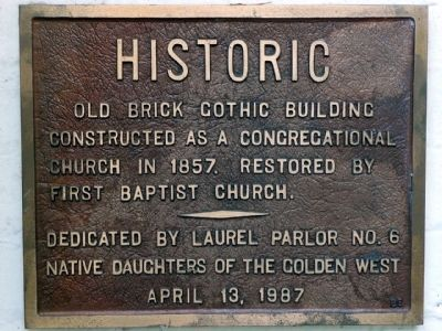 Old Brick Gothic Building Marker image. Click for full size.