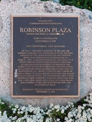 Robinson Plaza Marker image. Click for full size.