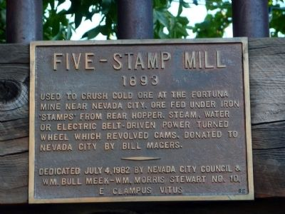 Five Stamp Mill Marker image. Click for full size.