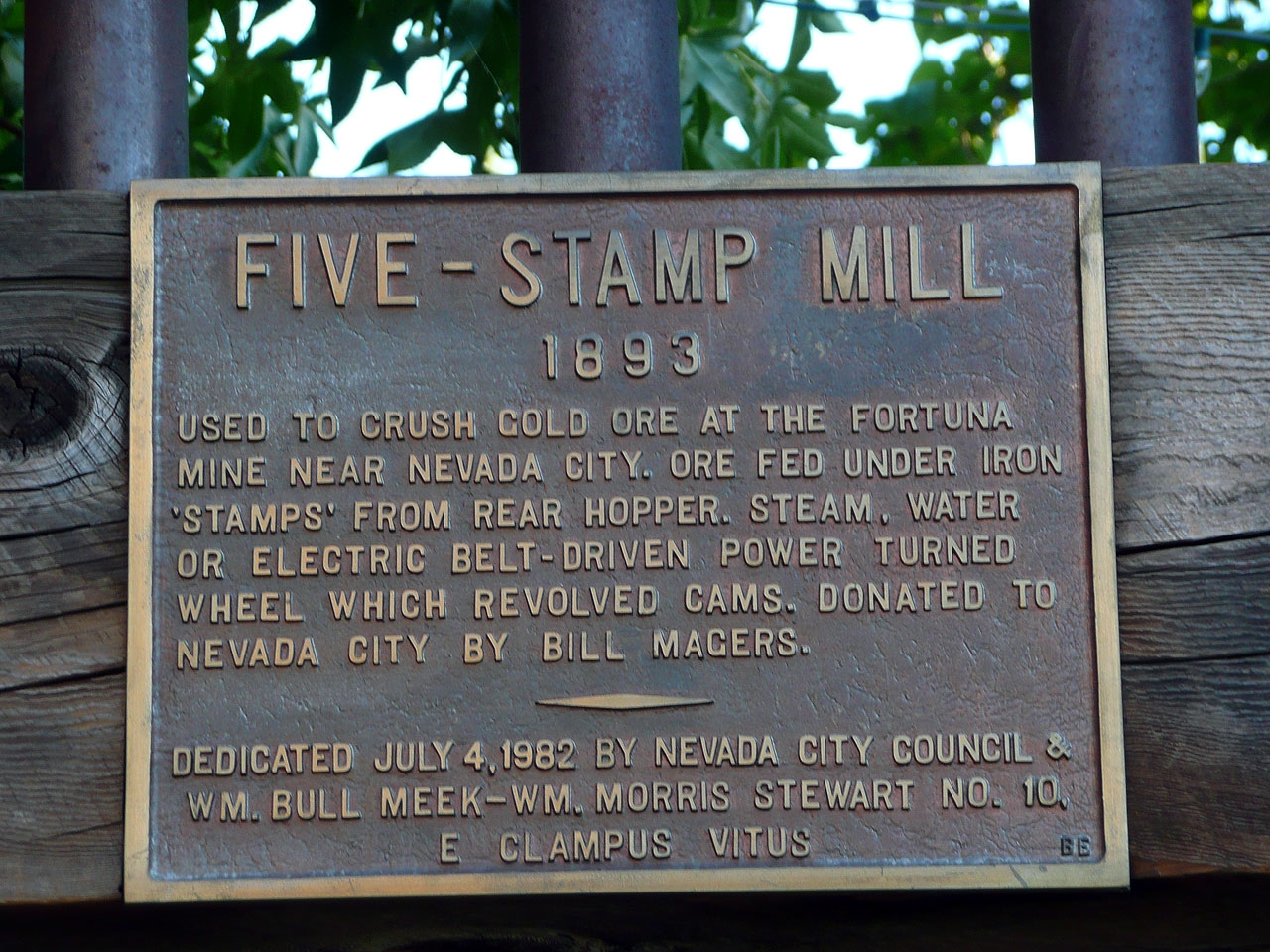 Five Stamp Mill Marker