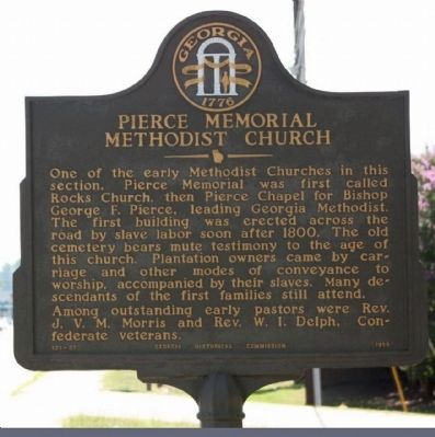 Pierce Memorial Methodist Church Marker image. Click for full size.