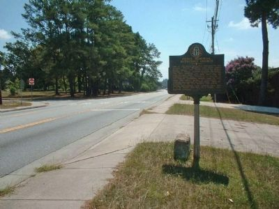 Pierce Memorial Methodist Church Marker, looking south along Jackson Road image. Click for full size.