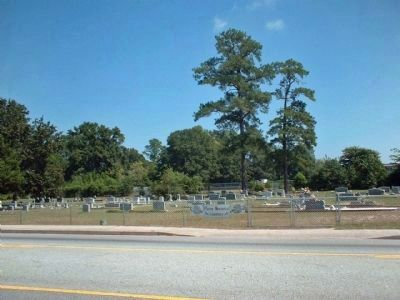 Pierce Memorial Methodist Church Cemetery, located across Jackson Road image. Click for full size.