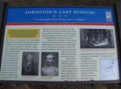 Johnston's Last Bivouac Marker image. Click for full size.