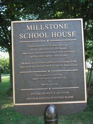 Millstone School House Marker image. Click for full size.