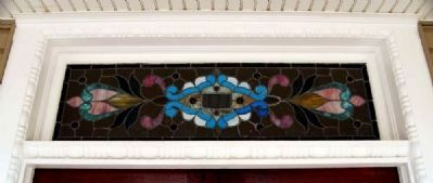 115 Broadus Avenue (ca. 1900) -<br>Leaded Glass Transom image. Click for full size.