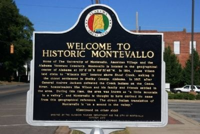 Welcome To Historic Montevallo Marker Side A image. Click for full size.