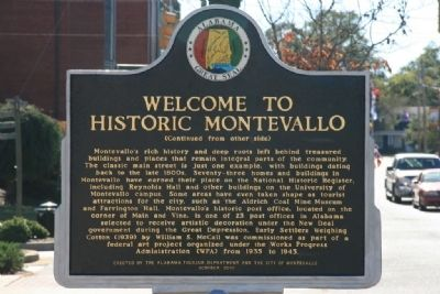 Welcome To Historic Montevallo Marker Side B image. Click for full size.