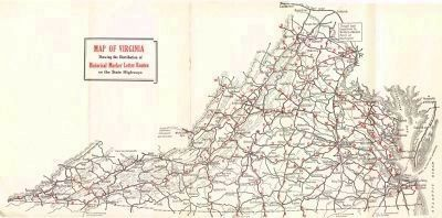 1929 Virginia Historical Marker Letter Routes image. Click for full size.