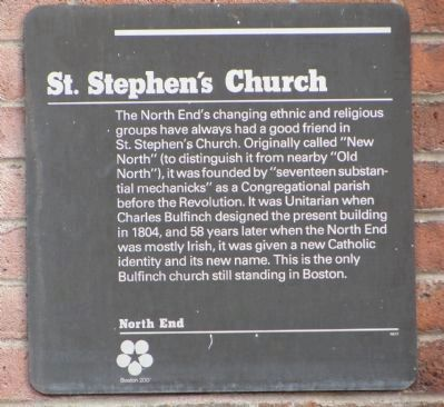 St. Stephen's Church Marker Panel 1 image. Click for full size.
