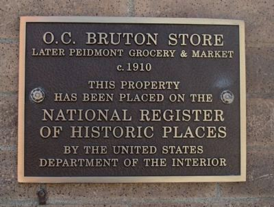 O.C. Bruton Store Marker image. Click for full size.