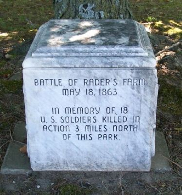 Battle of Rader's Farm Monument image. Click for full size.