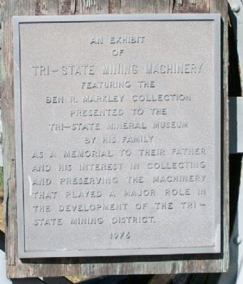 Tri-State Mining Machinery Marker image. Click for full size.