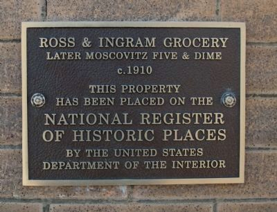 Ross & Ingram Grocery Marker image. Click for full size.