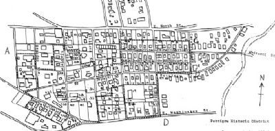 Map of the Pettigru Historic District -<br>Dotted Line Outlines District&#39;s Boundary image. Click for full size.