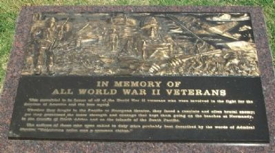Veterans Memorial of Timeless Honor WWII image. Click for full size.