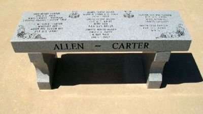 Veterans Memorial of Timeless Honor Bench image. Click for full size.