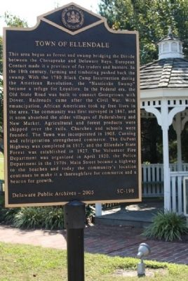 Town of Ellendale Marker image. Click for full size.