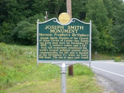 Joseph Smith Monument Marker image. Click for full size.