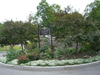 Joseph Smith Birthplace entrance image. Click for full size.