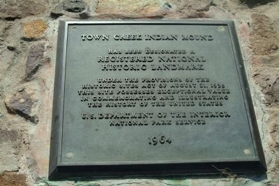 Town Creek Indian Mound Marker image. Click for full size.