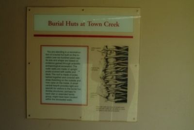 Burial Huts at Town Creek Marker image. Click for full size.