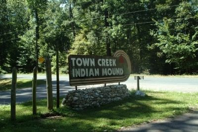 Town Creek Indian Mound Sign at Entrance image. Click for full size.
