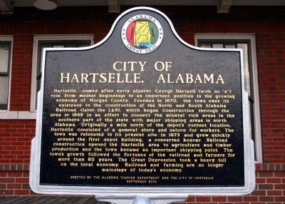 City of Hartselle, Alabama Marker image. Click for full size.