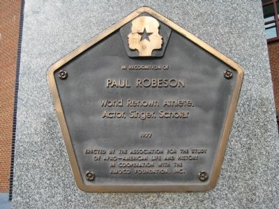 Paul Robeson Marker image. Click for full size.