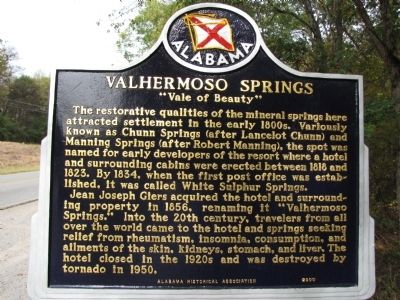 Valhermoso Springs Marker image. Click for full size.