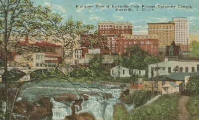 Bird's-eye View of Greenville from Furman University Campus image. Click for full size.